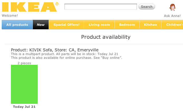 ikea product in stock example